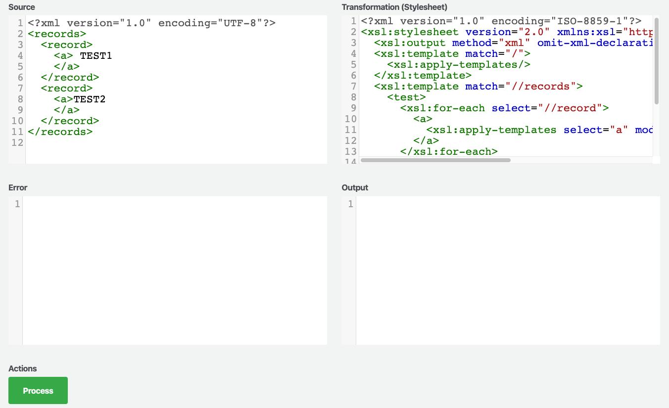 XML Transform